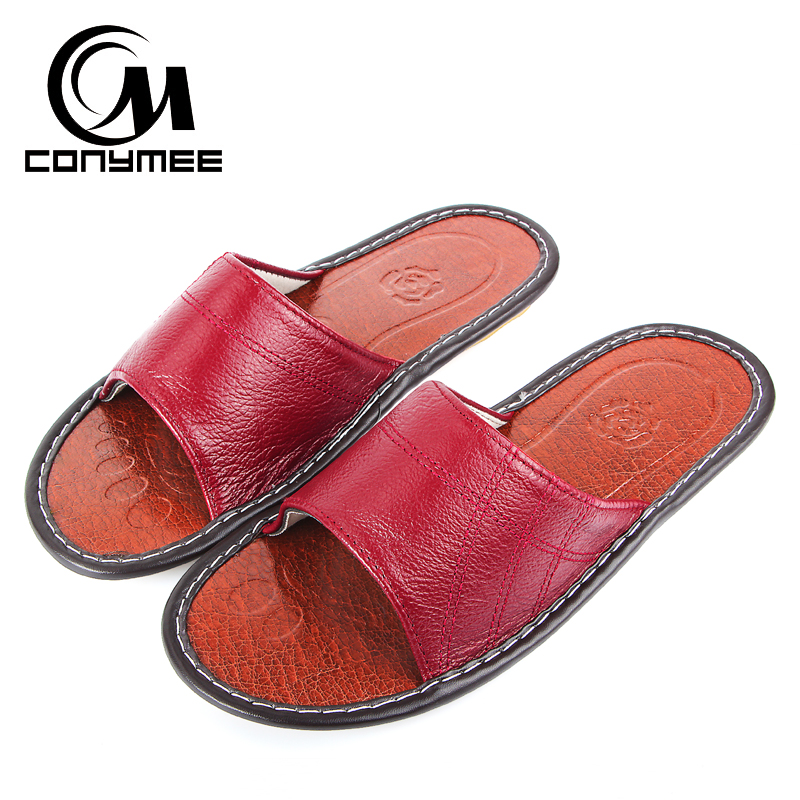 CONYMEE Summer 2018 Woman Genuine Leather Shoes Sexy Flip Flops Men Casual Sneakers Indoor Home Slippers Women Leather Sandals CONYMEE Summer 2018 Woman Genuine Leather Shoes Sexy Flip Flops Men Casual Sneakers Indoor Home Slippers Women Leather Sandals