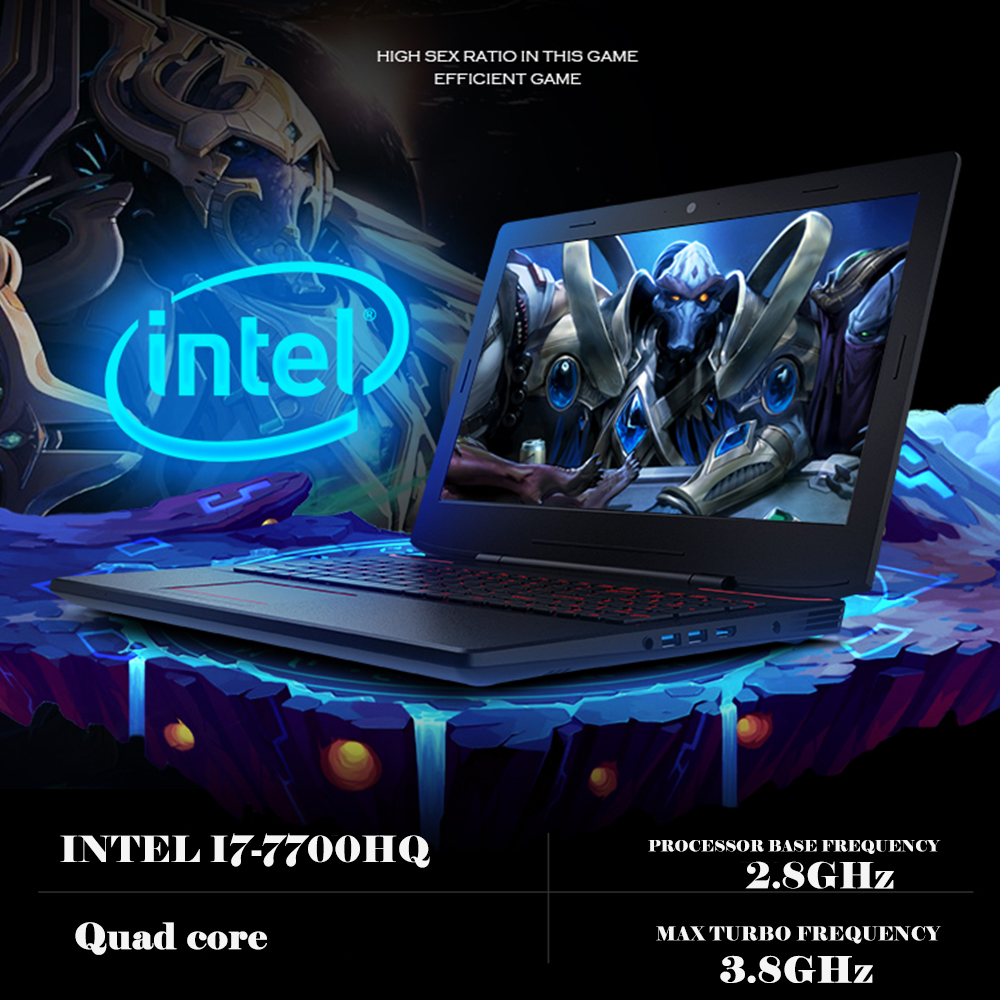 15.6 inch Gaming Laptop Nvidia GTX1060 Intel I7-7700HQ DDR5 6G Video Card 19020x1080P Backlit Keyboard for Game Office Work