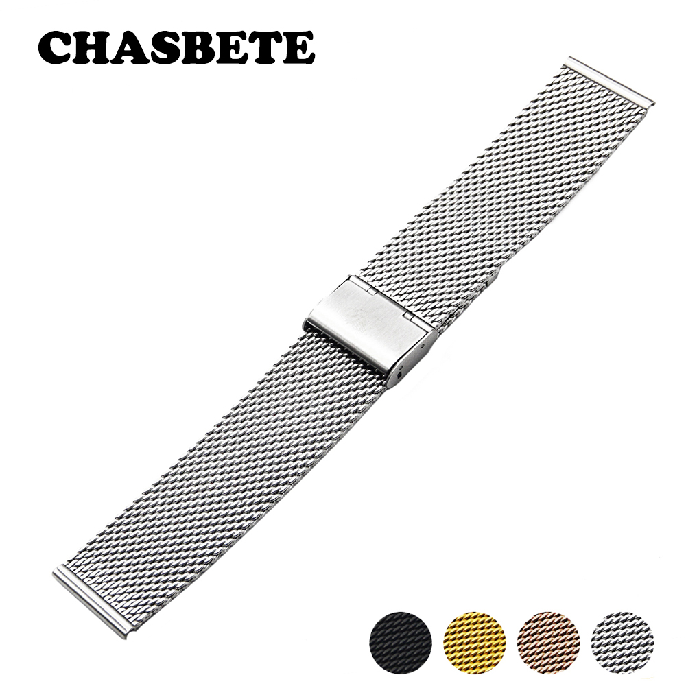 18mm 20mm Stainless Steel Watch Band for DW Daniel Wellington Watchband Men Women Metal Strap Wrist Loop Belt Bracelet Black