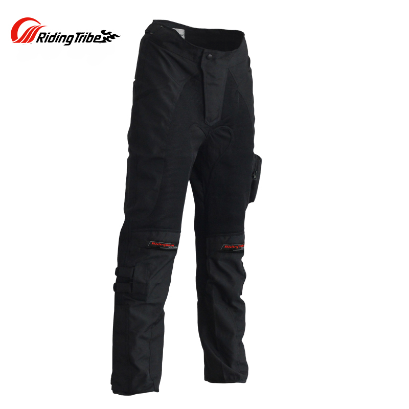Motorcycle Summer protective pads Pants Off road Breathable Automobile Race moto Pants Wear resistant With Knee pads trousers