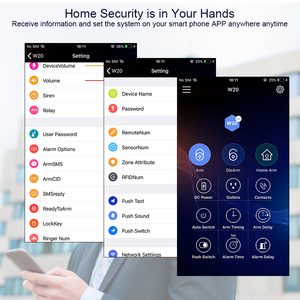 Image 5 - Corina Wifi Gsm W20 Rfid Card Smart Home Security Alarm Systeem 2.4 Inch Touch Toetsenbord Met Deur Sensor Anti Huisdier Motion Detector