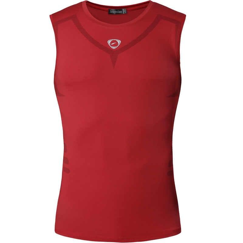قطع علوية رياضية ضيقة من الجنز بدون أكمام قمصان للركض واللياقة البدنية ضيقة مضغوطة LSL3306