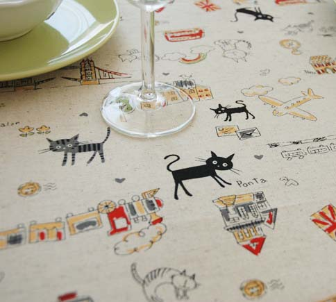 Aliexpress.com : Buy Black Cat Table Cloth Cotton/Linen Table Covering  Dining Table Decoration Rainbow Tablecloth From Reliable Cloth Belt  Suppliers On ...