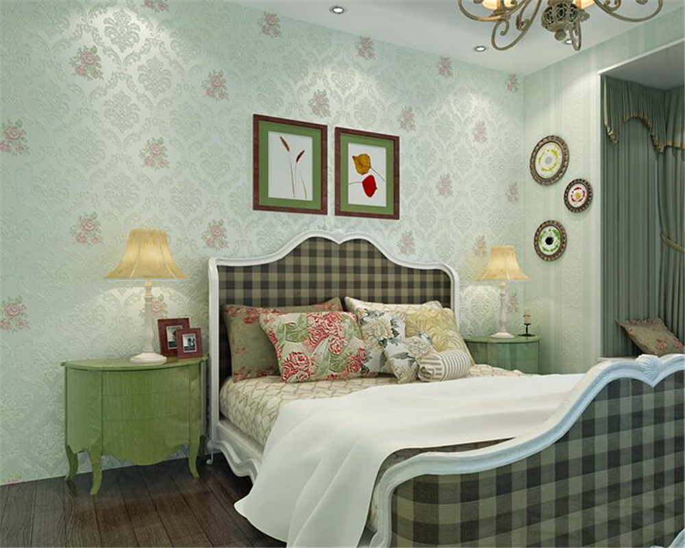 beibehang papel de parede wall paper Stereo Fashion Aesthetic Relief Wallpaper Pastoral Nonwovens Warm and romantic 3d wallpaper beibehang warm and lovely fashion golden