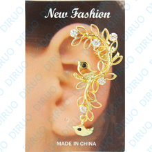 Wholesale Bird Ear cuffs hook Clip Earrings fashion gothic punk heavy metal earrings for women no pierced earrings
