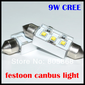 Bright 9W led reading light Cree chips led festoon led 31MM 36MM 39MM 41MM 9w reading light