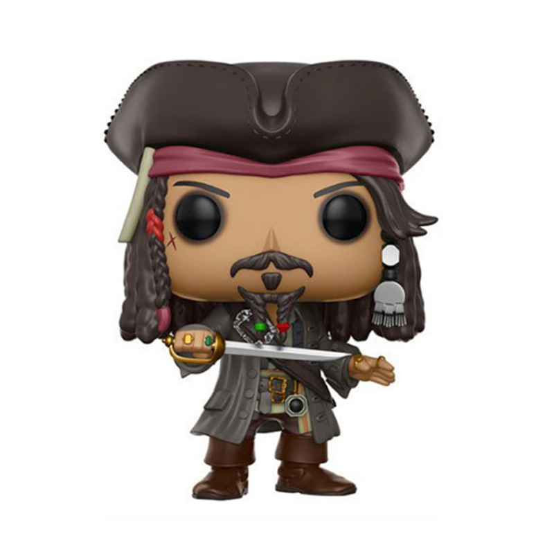 Elsadou 10cm Pirates of the Caribbean Action Figures Doll Jack Sparrow Toys for Collection the jack sparrow revolution