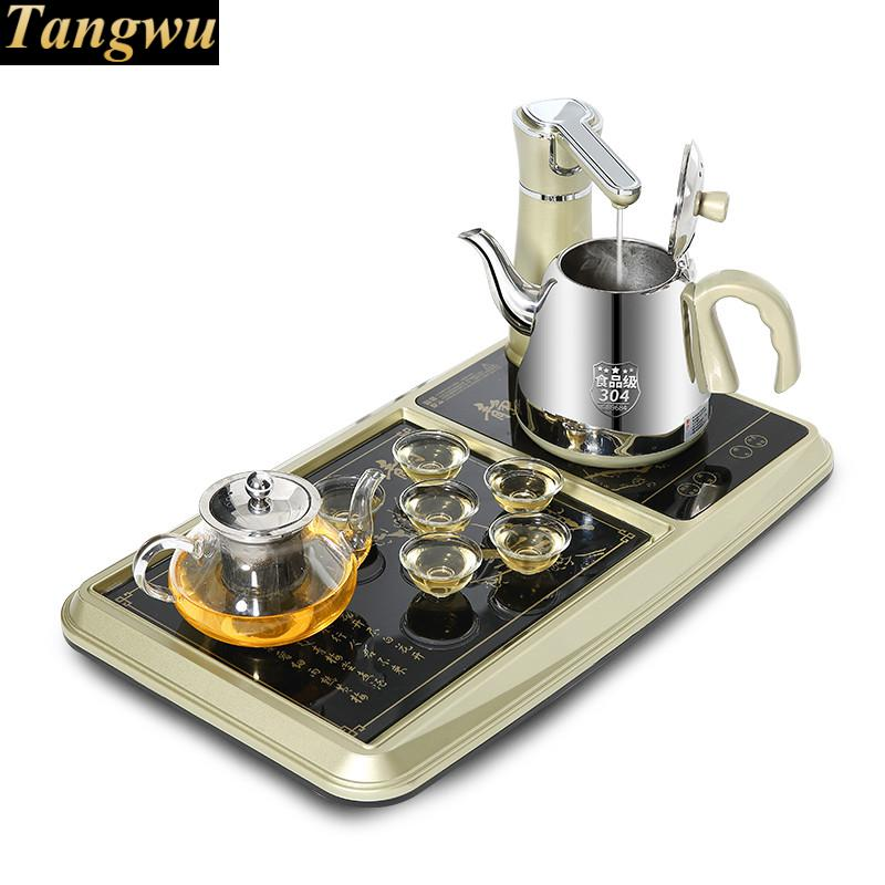 Electromagnetism tea furnace automatic water electric kettle of induction sets mad free shipping automatic water supply electric kettle tea set pumping furnace