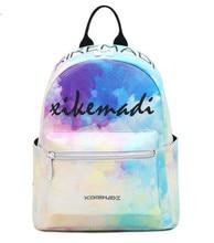 Miwind-f цвета радуги градиент цвета рюкзак весна/лето мода новые ранцы дамы путешествия известные бренды Mochila