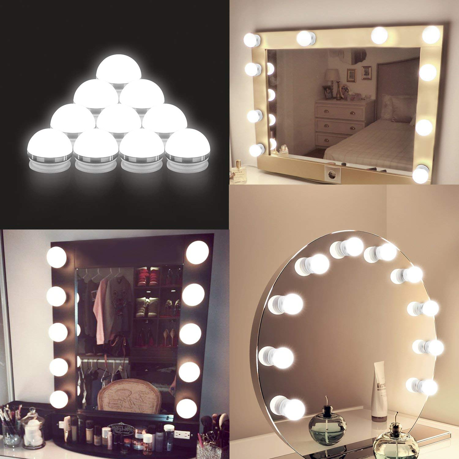 Us 8 99 30 Off Hollywood Style Usb Led Vanity Mirror Lights Kit Dimmable Bulbs And Touch Dimmer For Makeup Table Set In Dressing Room