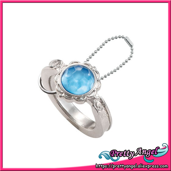 Original Bandai Sailor Moon 20th Anniversary Die-cast Ring Charm Gashapon - Silver Crystal original bandai shokugan sailor moon butterfly ribbon charm key chain sailor moon
