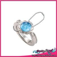 Original Bandai Sailor Moon 20th Anniversary Die Cast Ring Charm Gashapon Silver Crystal
