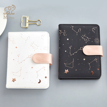 White Black Starry Star Moon PU Leather Notebook Hardcover Paper Journal Traveler Diary Planner Notepad Stationary Kids Gifts стоимость
