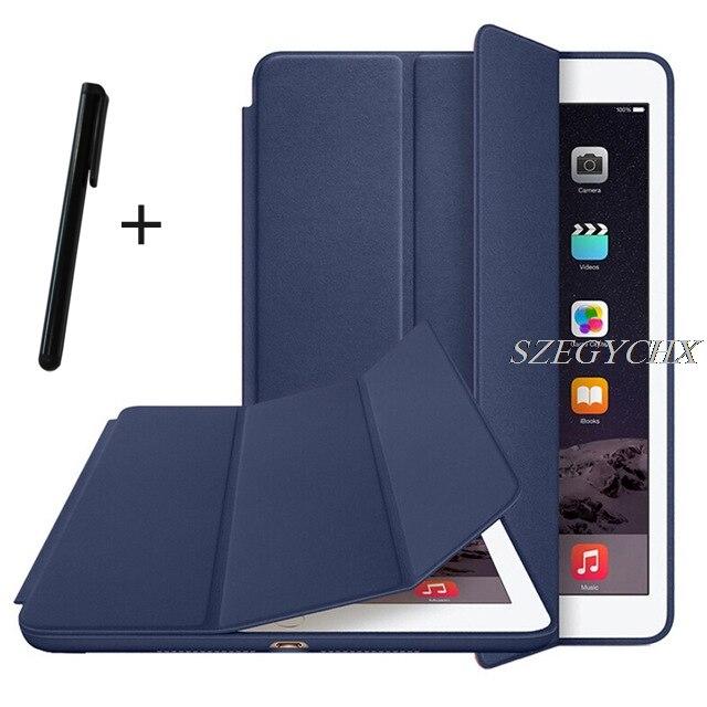Ultra Slim Smart Cover tablet Cas Pour apple iPad mini 4 7.9 pouce Stand cas Auto Réveil/Sommeil avec LOGO SZEGYCHX A1538 A1550