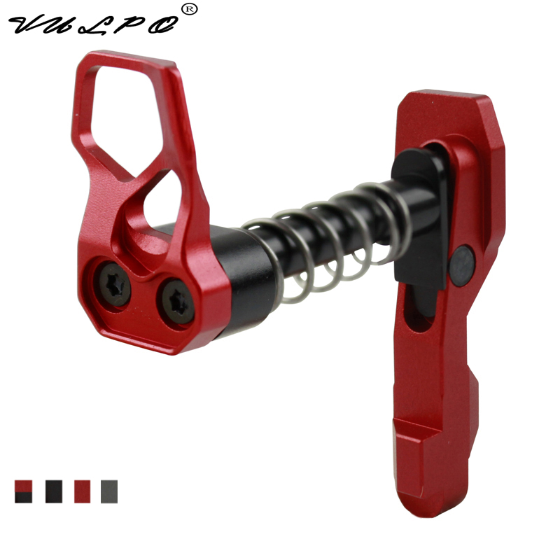 VULPO Hot Sale New Style CNC Machine Double side left right hand Magazine Release Catch for M4 M16 series airsoft AEG in Hunting Gun Accessories from Sports Entertainment