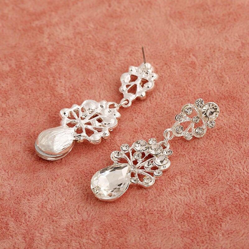 Nova Moda Magnifico Cristal Bridal conjuntos de Joias Charme Strass conjuntos de joias de Casamento Para Mulheres Acessorios Para o cabelo (3)