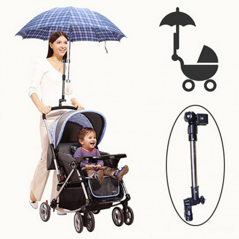 Adjustable Mount Stand Baby Stroller Accessories Baby Stroller Umbrella Holder Multiused Wheelchair Parasol Shelf Bike Connector Convenient To Cook Strollers Accessories Activity & Gear