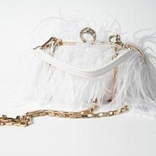 Ostrich Feather Evening Bag