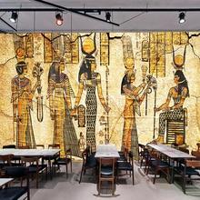 Papel pintado Mural personalizado para pared 3D Retro Nostalgia personajes egipcios pintura al óleo sala de estar restaurante decoración de fondo