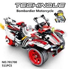 SEMBO Bombardier Motorcycle Model Three Rounds Building Blocks Sets Bricks kids Toys for Children gift City Technic