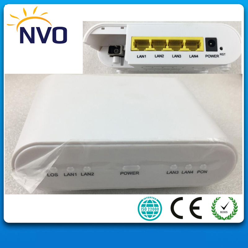 FTTH EPON ONU 4GE(10/100/1000Mbps) Fast Ethernet Port Eu Charger Cortina Chip Wireless WiFi Router With 4 Ports