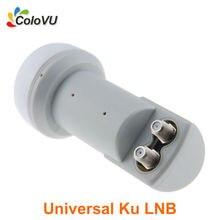 Banda Ku LNB LNB Twin Universal Mini Digital de Satélite Doble salida para Antena Parabólica DVB-S/S2 de Alta Ganancia de Poco Ruido Caliente venta