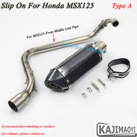 Full System MSX 125 Motorcycle Exhaust Muffler Laser Marking With DB Killer Motorbike Connect Middle Link Pipe For HONDA MSX125