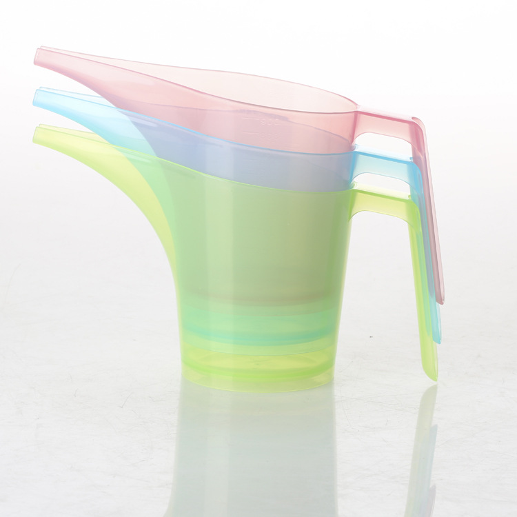 1PC 300ML Candy Color Long Mouth Cup Measuring Tools Graduated Beaker Clear Plastic Measuring Cup  EJH 0730