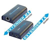 Yeni 120 m Ethernet LAN RJ45 CAT5E CAT6 Üzerinde HDMI Extender HD 1080 P DVD PS3 için Güç ile 120 M kadar adaptörü