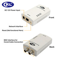 0 3KM High quality Multifunction Rj45 Ethernet Extender IP Data & CCTV Transmission Over Coaxial or Twisted Pair Cable CKL 704