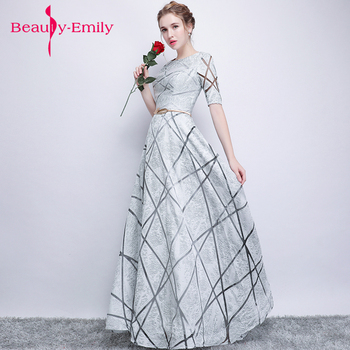 2018 hot geometric figure Evening dress long vintage prom gowns elegant metal sashes homecoming dresses vestido longo para festa