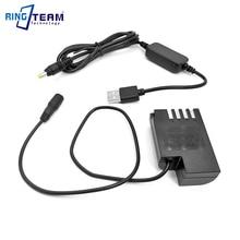 DMW BLF19E DMW DCC12 מצמד + כוח בנק USB כבל מתאם עבור Panasonic Lumix DMC GH3 DMC GH4 GH5 GH4 GH5s G9 מצלמה