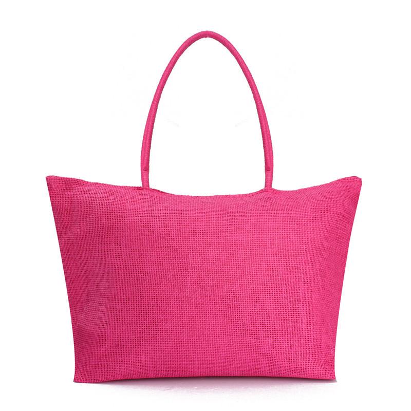 2017 Hot New Design Straw Popular Summer Style Weave Woven Shoulder Tote Shopping Beach Bag Purse Handbag Gift FreeShipping N770 8