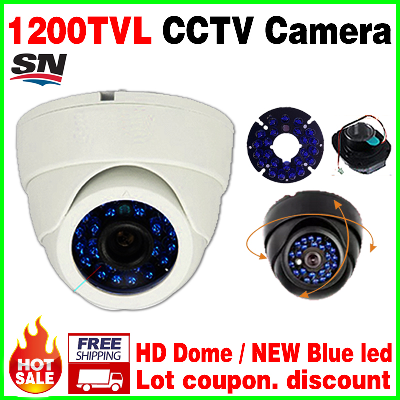 big sale!Security Dome HD Camera 1/3cmos 1200TVL waterproof IP66 ahdl Blue 24led Night Vision 30m IR-cut Indoor security vidicon big sale 1 3cmos 1200tvl cctv hd dome camera surveillance indoor 22led infrared ir cut night vision monitoring security vidicon