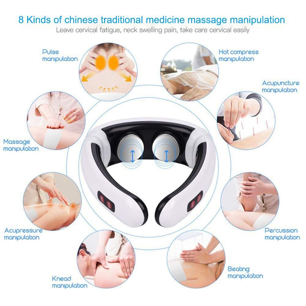 Smart EMS Electric Pulse Neck Treatment  Electro Cervical Vertebra Back Shoulder Pain relief Machine Massager Relaxation (7)
