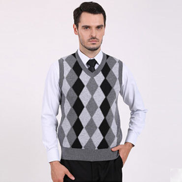 Autumn Winter Men Wool Sweaters V neck Pullover Sweater Vests ...