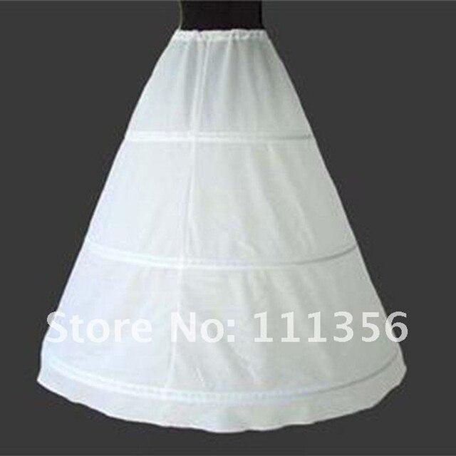 3 ARO Enagua de La Crinolina Del Vestido de Boda Nupcial Blanco Negro Falda Slip