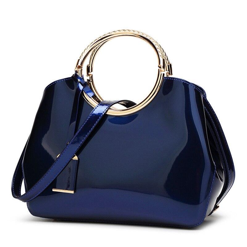 ФОТО 2017 High Quality Patent Leather Women bag Ladies Cross Body messenger Shoulder Bags Handbags Women Famous Brands bolsa feminina