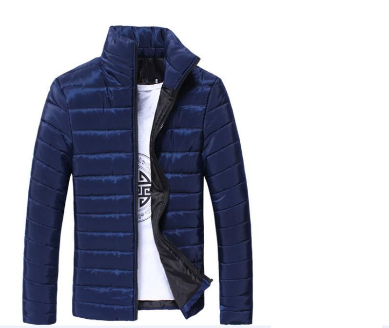 2017 New Cotton Men Collar Young People Pure Color Winter Casual Cotton Jacket Male Jacket young people young people all at once