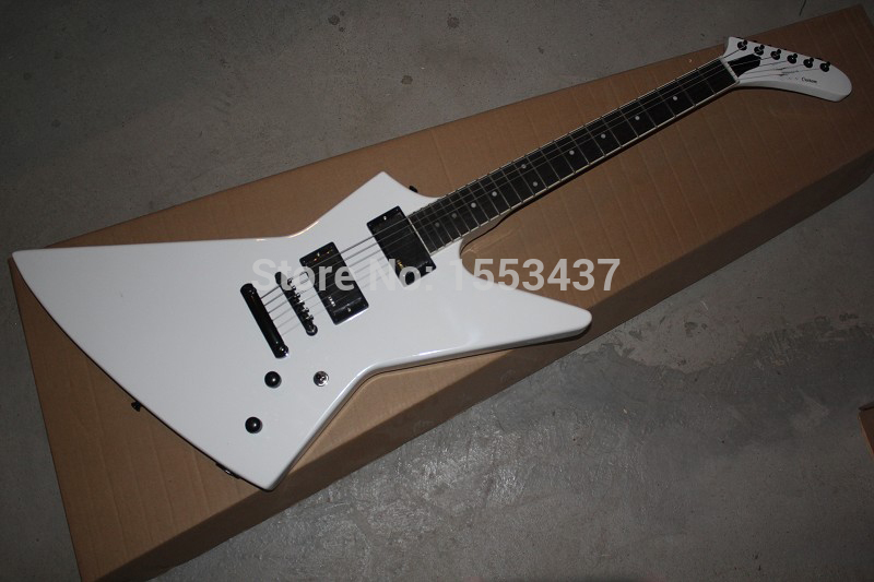 Free Shipping New Arrival ESP Custom Explorer MX-250 II White 9V Battery Active Pickups EMG Electric Guitar in Stock