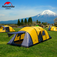 NatureHike New Arrival Wormhole Style 3/4/5/6/7/8/9/10 People Large Space Tent For Family Holiday Camping Hiking Outdoor Tent