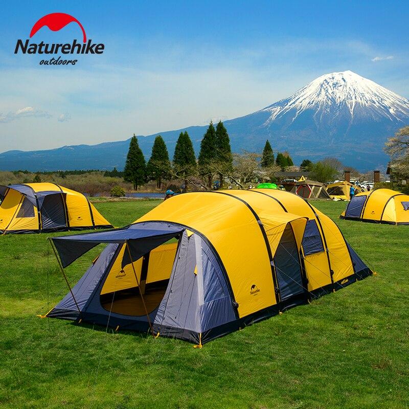 Nature randonnée nouveauté Wormhole Style 3/4/5/6/7/8/9/10 personnes grand espace tente pour vacances en famille Camping randonnée tente extérieure