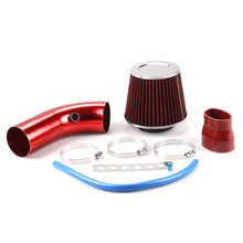 76mm 3inch Universal Car Aluminum Air Intake pipe kit+Air FILTER Duct Tube Kit Air filter Performance Cold Air Intake Kit цены