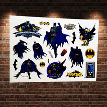 1PC Cool Children Temporary Tattoo Batman Design ACG-053 Kids Superheros Bat Man Tattoo Waterproof Style Comics Men Tatoo