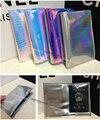 Designer Hologram Anti wrinkle Leatherette Passport wallet Cover Travel ID Card Holder