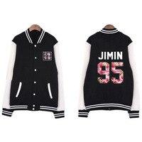 New Kpop BTS Bangtan Boys The Same Around BF Style Korean Version Baseball Jacket Sweatershirt Hoodie