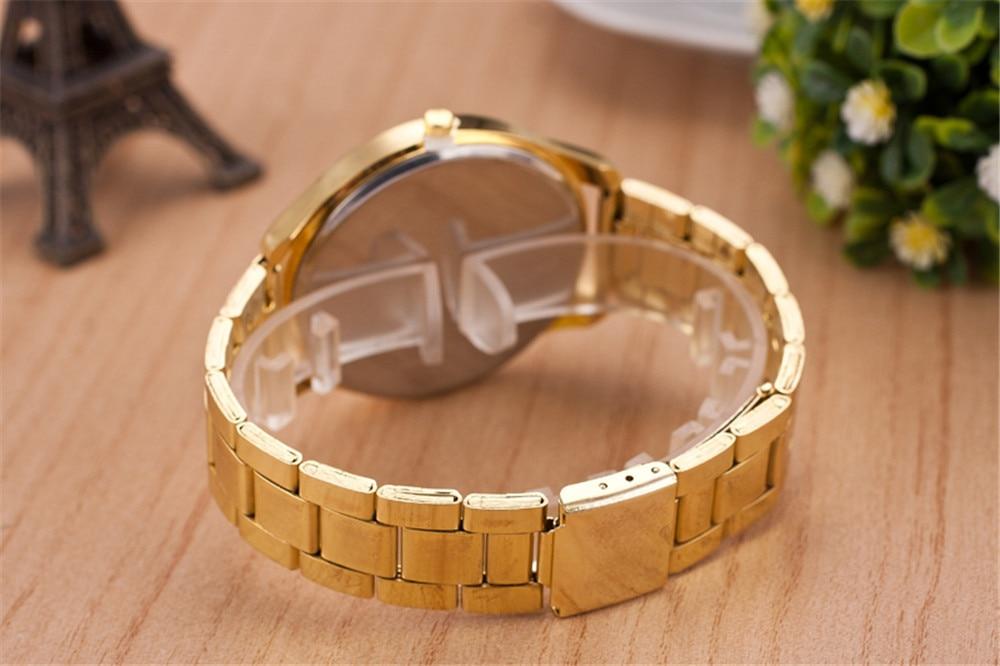 2019 New Brand Gold Grid Crystal Casual Quartz Watch Kvinnor - Damklockor - Foto 6
