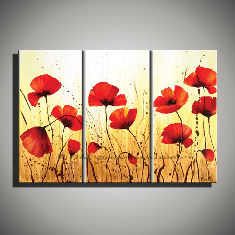 Poppy Pictures Canvas Bedwalls