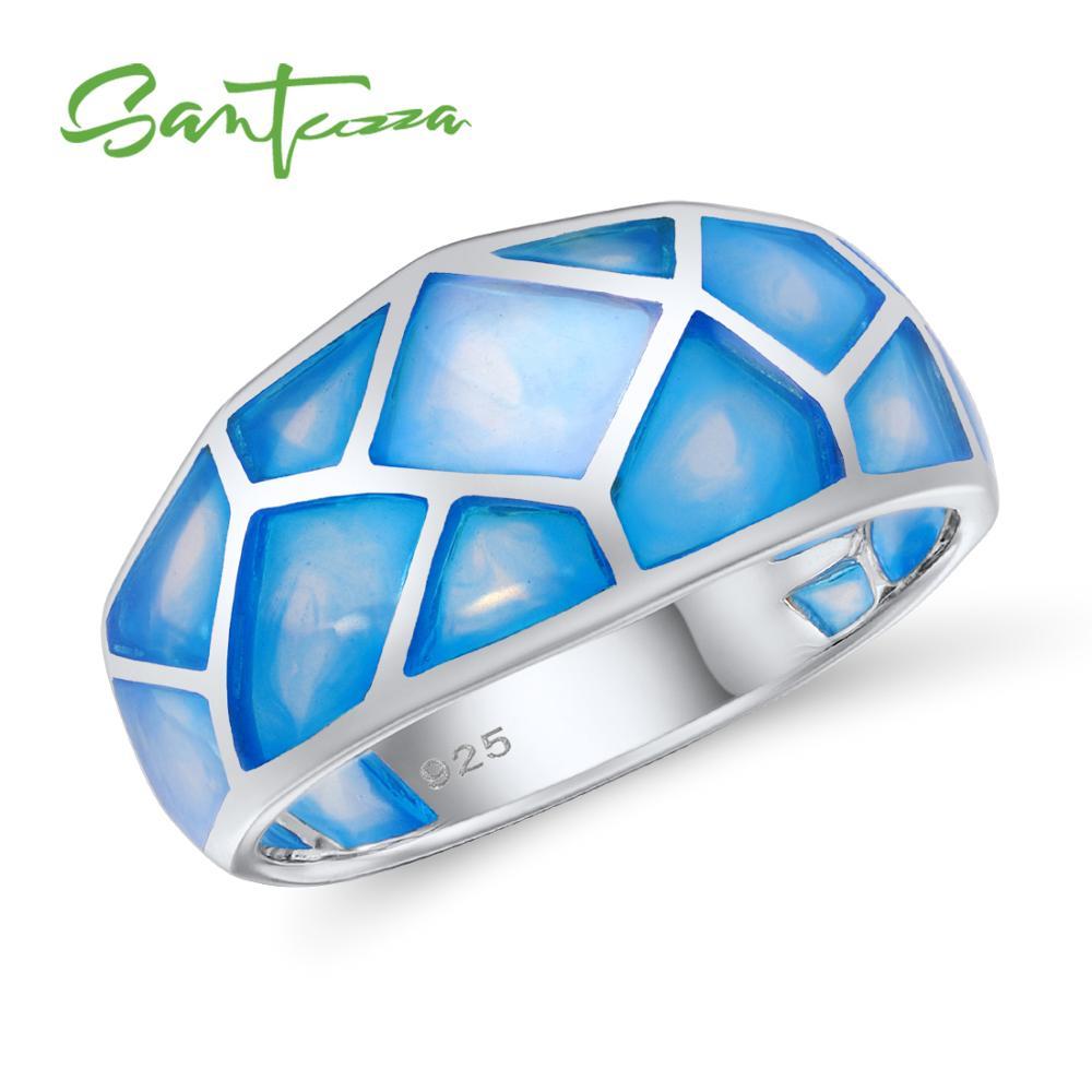 SANTUZZA Silver Ring For Women 925 Sterling Silver Fashion Rings for Women 2017 Cubic Zirconia Ringen