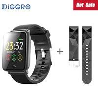 Diggro Q9 Smart Watch Blood Pressure Heart Rate Monitor IP67 Waterproof Sport Fitness Trakcer Watch Men Women Smartwatch 2 Strap